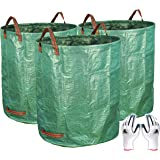 Gardzen 3-Pack 72 Gallons Garden Bag - Reuseable Heavy Duty Gardening Bags Lawn Pool Garden Leaf Waste Bag