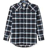 ELY CATTLEMAN Men's Long Sleeve Wrinkle Free Oxford Plaid Western Shirt
