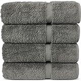 Chakir Turkish Linens Luxury Hotel & Spa Bath Towel Turkish Cotton (Gray)