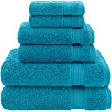 Hotel & Spa Quality, Absorbent and Soft Decorative Kitchen and Bathroom Sets, Cotton, 6 Piece Turkish Towel Set, Includes 2 B