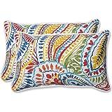 Pillow Perfect Rectangular Throw Pillow, Set of 2, 572581, Spun Polyester, Multicolored, 18.5-inch Length x 11.5-inch Width x