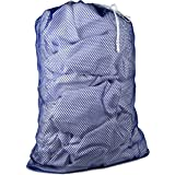 Commercial Mesh Laundry Bag - Sturdy Mesh Material with Drawstring Closure. Ideal Machine Washable Mesh Laundry Bag for Facto