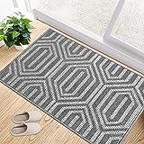 """Indoor Doormat, 32""""x 48"""" Absorbent Front Door Mat, Non Slip Rubber Backing Entryway Rug, Inside Floor Mud Dirt Trapper Entran"""