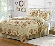 Greenland Home Fashions Antique Rose Quilt Set