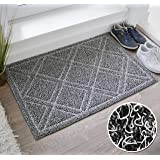 BrigHaus Large Outdoor Indoor Door Mat | Non-Slip Heavy Duty Front Welcome Doormat Rug, Outside Patio, Inside Entry Way, Catc