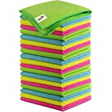 SCRUBIT Anti-Bacterial Microfiber Cleaning Cloth - Ultra Absorbent Towels for House, Kitchen, Cars, Windows - Lint Free and S