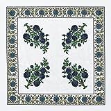 Avrit Dinner Napkins Cloth Washable Soft Cotton Set of 4 Printed Reusable Napkins- Perfect for Dinner, Weddings & Christmas -