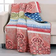 Barefoot Bungalow GL-1610FTHR Hillsborough Throw