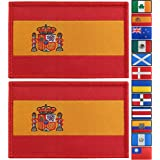 JBCD 2 Pack Spain Flag Patch Spanish Flags Tactical Patch Pride Flag Patch for Clothes Hat Patch Team Military Patch