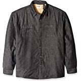 Wrangler Authentics Men's Long Sleeve Quilted Lined Flannel Shirt Jacket