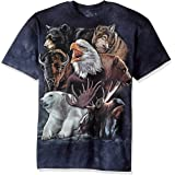 The Mountain Wild Alaskan Collage Adult T-Shirt