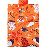 Large Book Sleeve - Fall Pattern - Size 8.5'' x 11'' - Zippered Pocket - Book/Planner/Kindle Cover