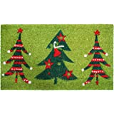 "Calloway Mills 120981729 Christmas Trio Doormat, 17"" x 29"", Multicolor"