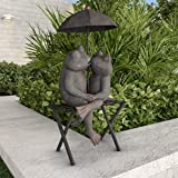 Pure Garden 50-LG1104 Frog Couple Statue-Resin Romantic Animal Figurine for Outdoor Lawn Decor for Flower Beds, Fairy Gardens