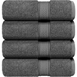 Utopia Towels 700 GSM Premium Bath Towels - (27x54 Bath Towels) - 100% Ring-Spun Cotton Towels for Home, Hotel and Spa, Grey,