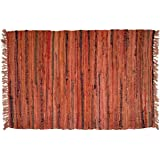 Hand Woven Country Rag Rugs in Spice 2 x 3