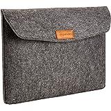 AmazonBasics 15.4-Inch Felt Laptop Sleeve - Charcoal