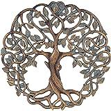 Tree of Life Wall Plaque 30cm Decorative Celtic Garden Art Sculpture Copper Finish