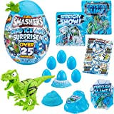 Smashers Dino Ice Age Surprise Egg (with Over 25 Surprises!) by ZURU - Raptor, Blue