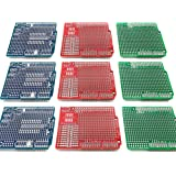 Electrocookie Proto Shield Kit for Arduino Uno R3, Expansion Prototyping PCB Board (3 Types, 9 Pack)