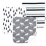 """Baby Burp Cloth Large 21''x10'' Size Premium Absorbent Triple Layer 3 Pack Gift Set for Boys """"Scout Set"""" by Copper Pearl"""