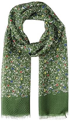 Ships Silk Flower Pattern Scarf 118-31-0461