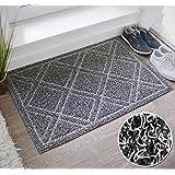 BrigHaus Large Outdoor Indoor Door Mat | Non-Slip Heavy Duty Front Welcome Doormat Rug, Outside Patio, Inside Entry Way, Catc