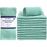 "Bumble 12-Pack Antimicrobial Barmop Kitchen Towels / 16"" x 19"" Premium Kitchen Towels/Super Absorbent Heavy Weight Cotton/Rib"