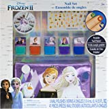 Townley Girl Frozen 2 Peel- Off Nail Polish Activity Set for Girls, Ages 3+ With 5 Nail Polish Colors, 240 Nail Gems, and Bag