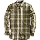Goodthreads Men's Slim-Fit Long-Sleeve Plaid Slub Shirt