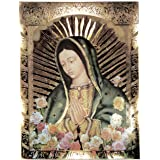 Our Lady of Guadalupe, Half Body Portrait, Roses - Religious Wall Art Print Poster (8X10)