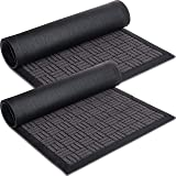 Sierra Concepts Heavy Duty 2-Pack Front Door Mat - Welcome Rug Doormat - Floor, Indoor Outdoor Entrance Mats, Entryway, Insid