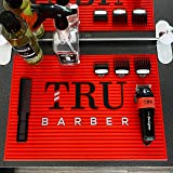 "Tru Barber Mat 19"" x 13"" Flexible PVC Station Mat, Professional Mat, Salon and Barbershop work Station pads, Beauty salon too"
