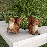 Pure Garden 50-LG1098 Squirrel Statues-Resin Animal Figurines for Outdoor Lawn Decor for Flower Beds, Fairy Gardens, Backyard