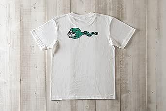 黒猫探偵社【へびネコ】ネコ柄Tシャツ メンズ&ガールズ (XL, ホワイト)