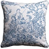 Maison d' Hermine The Miller 100% Cotton Toile Denim Decorative Pillow Cover 18 Inch by 18 Inch