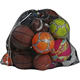 """Mesh Equipment Bag - 32"""" x 36"""" and 24"""" x 36"""" - Adjustable, Sliding Drawstring Cord Closure. Perfect mesh Bag for Parent or Co"""