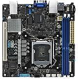 ASUS LGA1151 DDR4 EEC/Non-ECC UDIMM Mini-SAS HD M.2 C242 サーバー ワークステーション ミニ ITX マザーボード マザーボード P11C-I
