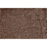 One Step Mud Mat Original Made in England 31W x 47L Large Brown Cotton Microfiber Indoor Floor Mat with Non Slip Backing Trap