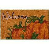 "Elrene Home Fashions Farmhouse Living Fall Welcome Pumpkin Coir Door Mat, 18""x30"""