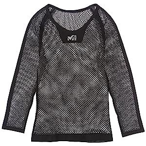 MILLET(ミレー) ドライナミック メッシュ 3/4 スリーブ クルー ブラック L/XL MIV01356