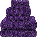 American Soft Linen 6-Piece 100% Turkish Genuine Cotton Premium & Luxury Towel Set for Bathroom & Kitchen, 2 Bath Towels, 2 H