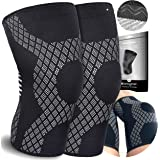 Knee Compression Sleeves (Pair) For Arthritis-Knee Support Braces For Joints Pain -Ligament Injury -Meniscus Tear -Acl - Mcl