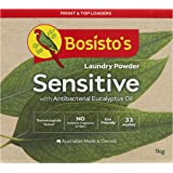 Bosisto's Sensitive Laundry Powder 1kg | with Antibacterial Eucalyptus Oil, Eco Friendly, Dermatologically Tested, No Synthet