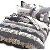 Essina Super King Sized Quilt Cover Duvet Cover Doona Cover Set 3pc Rosetta Collection, 100% Cotton 620 Thread Count, Pillow