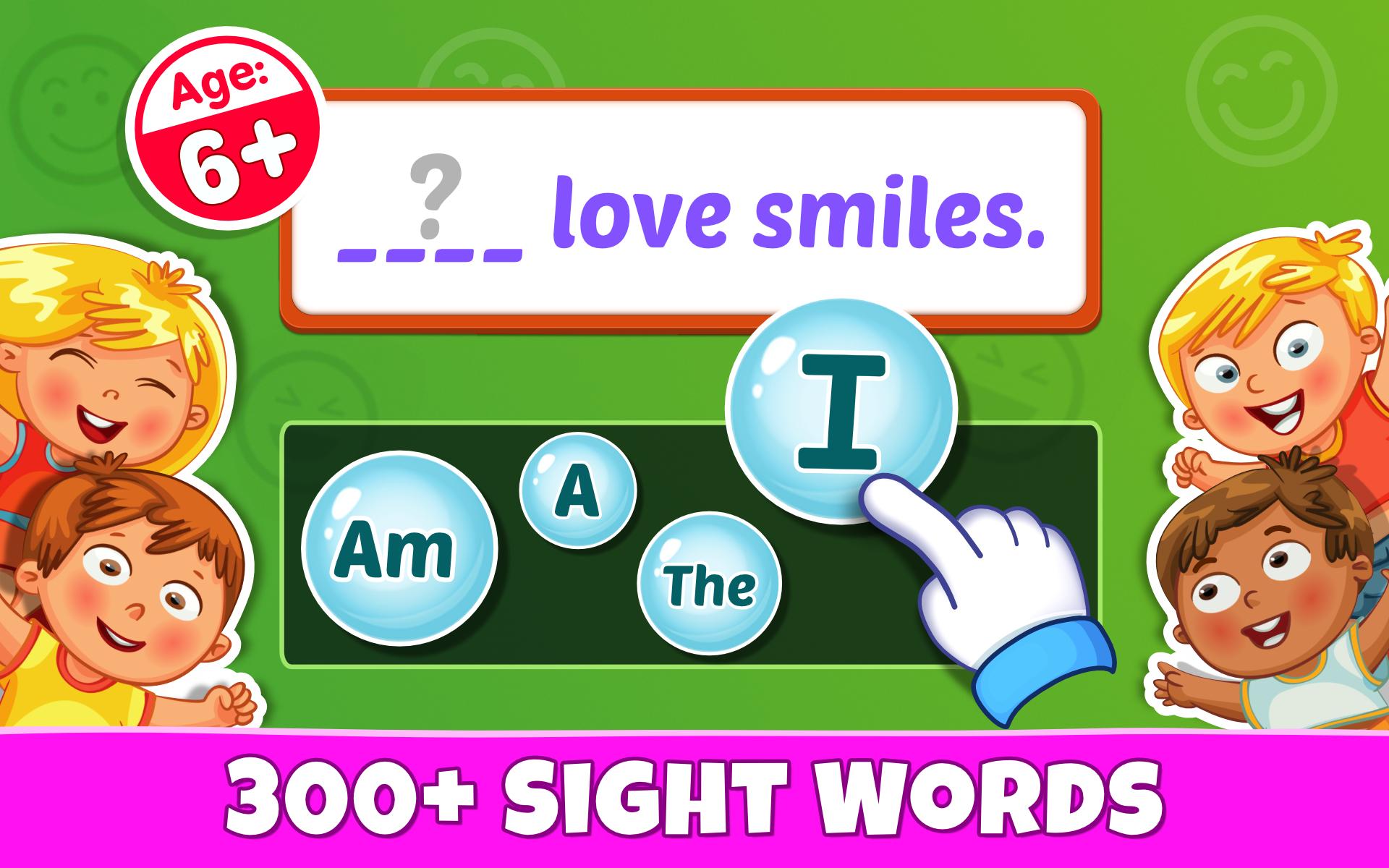 【完全無料】初歩の英文法がある幼児向け英語アプリ『Sight Words』