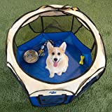 PETMAKER 80-PET6082 Pop-Up Pet Playpen with Carrying Case, Blue