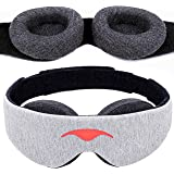Manta Sleep Mask - 100% Blackout Eye Mask - Zero Eye Pressure - Adjustable Eye Cups - Guaranteed Deepest-Possible Rest - Perf