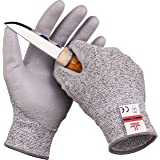 SAFEAT Safety Grip Work Gloves for Men and Women – Protective, Flexible, Cut Resistant, Comfortable PU Coated Palm. Free eBoo