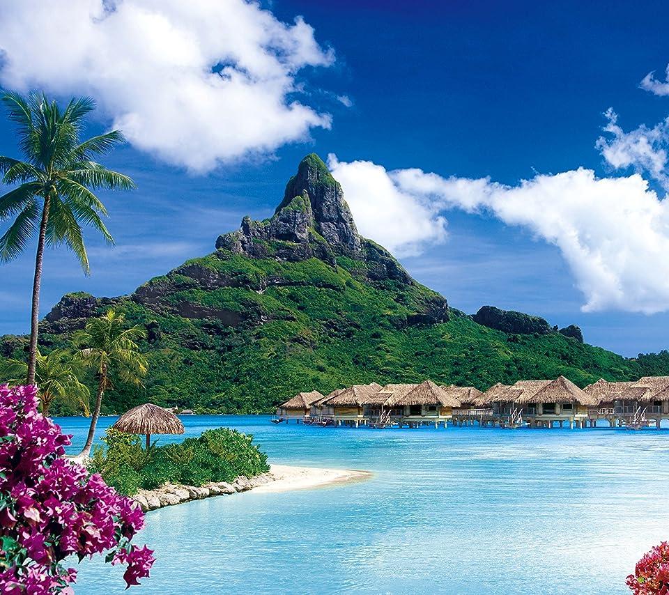 絶景 南洋の楽園ボラボラ島 ポリネシア Android 960 854 待ち受け 画像